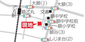 額乙丸地図