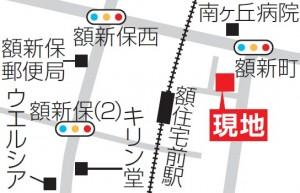 額新町CD棟地図